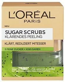 L'Oréal ParisSugar Scrubs maseczka na twarz z nasionami kiwi, oczyszczający peeling, 1 opakowanie (1 x 50 ml) A94371