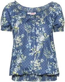 Bonprix Tunika, krótki rękaw ciemnoniebieski w kwiaty