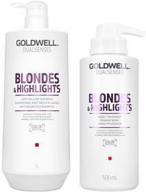 Goldwell DUALSENSES BLONDES & HIGHLIGHTS Szampon 1000 ml + Kuracja 500 ml 0000052688