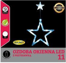 Bulinex Gwiazda na okno LED Bulinex na baterie biała 11 lampek 10-502