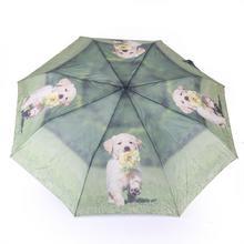 """Blue Drop Parasol damski składany krótki \""""Małe Labradory"""" ART A894DC malelabradory2"""