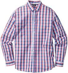 Bonprix Koszula w kratę Regular Fit jasnoczerwono-niebiesko-biały w kratę