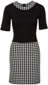 Bonprix Sukienka czarno-biały twill