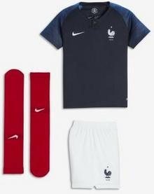 Nike Strój piłkarski dla małych dzieci 2018 FFF Stadium Home - Niebieski 894043-451