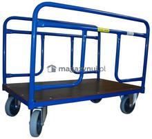 WIZ Wózki Wózek platformowy dwuburtowy z poręczami na dłuższym boku. Wym. 1200x700mm (Ładowność: 250kg)