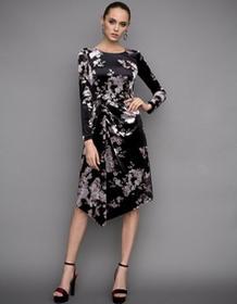 Nissa Sukienka asymetryczna w kwiaty