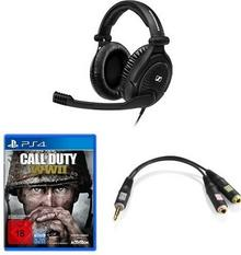 Sennheiser Game Zero Special Edition + Call of Duty: WWII  Standard Edition  [PlayStation 4] + adapter cable [PS4]