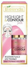 BIELENDA Bielenda Highlight & Contour Rozświetlacz do twarzy Pink - efekt poprawy kolorytu 15ml