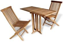 vidaXL Zestaw składanych mebli na balkon, 3 części, drewno tekowe