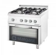 Stalgast kuchnia gazowa 4 palnikowa wym. 800x700x850 z piekarnikiem gazowym 20,5+5 kW - G30/31 9710130