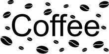 Oobrazy Cytaty, Coffee, Naklejka ścienna, 100x50 cm