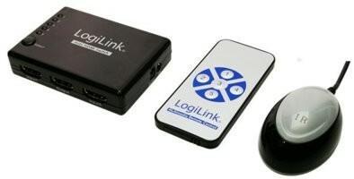 Logilink Switch HDMI 5port z wzm . i zdalnym sterownaniem HD0004