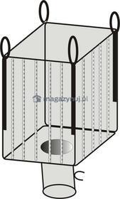 Worek BIG BAG 03A. 4 uchwyty, tkanina ażurowa wym. 900x900x1700mm