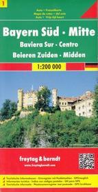Freytag&Berndt Niemcy część 1 Bawaria południowo-centralna mapa 1: 200 000 Freytag & Berndt