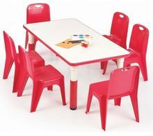 Profeos.eu Prostokątny stolik dziecięcy Hipper 2X - czerwony V-CH-SIMBA-ST-PROSTOKĄT-CZERWONY