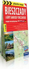 ExpressMap praca zbiorwa plastic! map Bieszczady i Góry Sanocko-Turczańskie. Foliowana mapa turystyczna 1:65 000