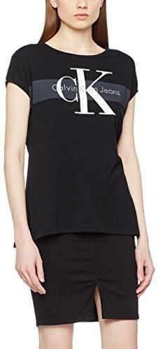 Calvin Klein Jeans T-shirt panie, kolor: czarny, rozmiar: 38 B01N4GLB6M