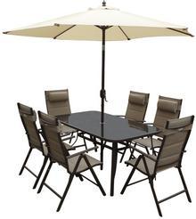 Zestaw mebli ogrodowych z parasolem MOCCA