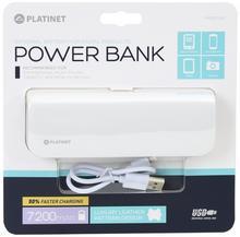 Platinet Power Bank leather 7200mAh White [43415] PMPB72LW