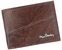 Pierre Cardin Portfel męski skórzany FOSSIL TILAK12 8806 RFID Brązowy - brązowy FOSSIL TILAK12 8806 RFID brązowy-0