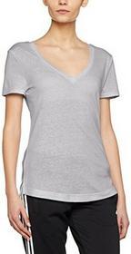 Adidas damski logo V-Neck Koszulka, szary, L AY0176_L