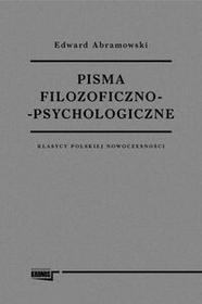 Fundacja Augusta Hr. Cieszkowskiego Pisma filozoficzno-psychologiczne - Edward Abramowski