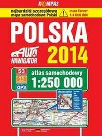 Polska Auto nawigator 2014 Atlas samochodowy w skali 1:250 000