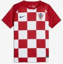 Nike Koszulka piłkarska dla dużych dzieci 2018 Croatia Stadium Home - Czerwony 893980-657
