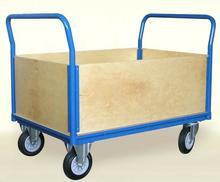 008 00853930 Wózek platformowy skrzynkowy z bokami ze sklejki wymiary 1050x700 mm) 53930-uniw