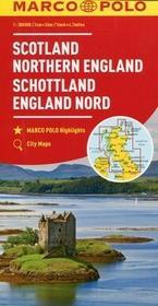 Marco Polo Szkocja Anglia Północna mapa samochodowa 1:300 - MARCO POLO