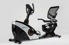 Hop-Sport Rower elektryczno magnetyczny poziomy HS-070L Helix srebrny z iConsole+ 185484-uniw