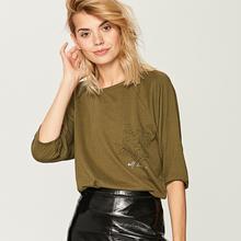RESERVED Koszulka z nadrukiem - Zielony