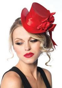 Leg Avenue satyna kapelusz z kwiatem akcent2135 -  jeden rozmiar czerwony 213522003