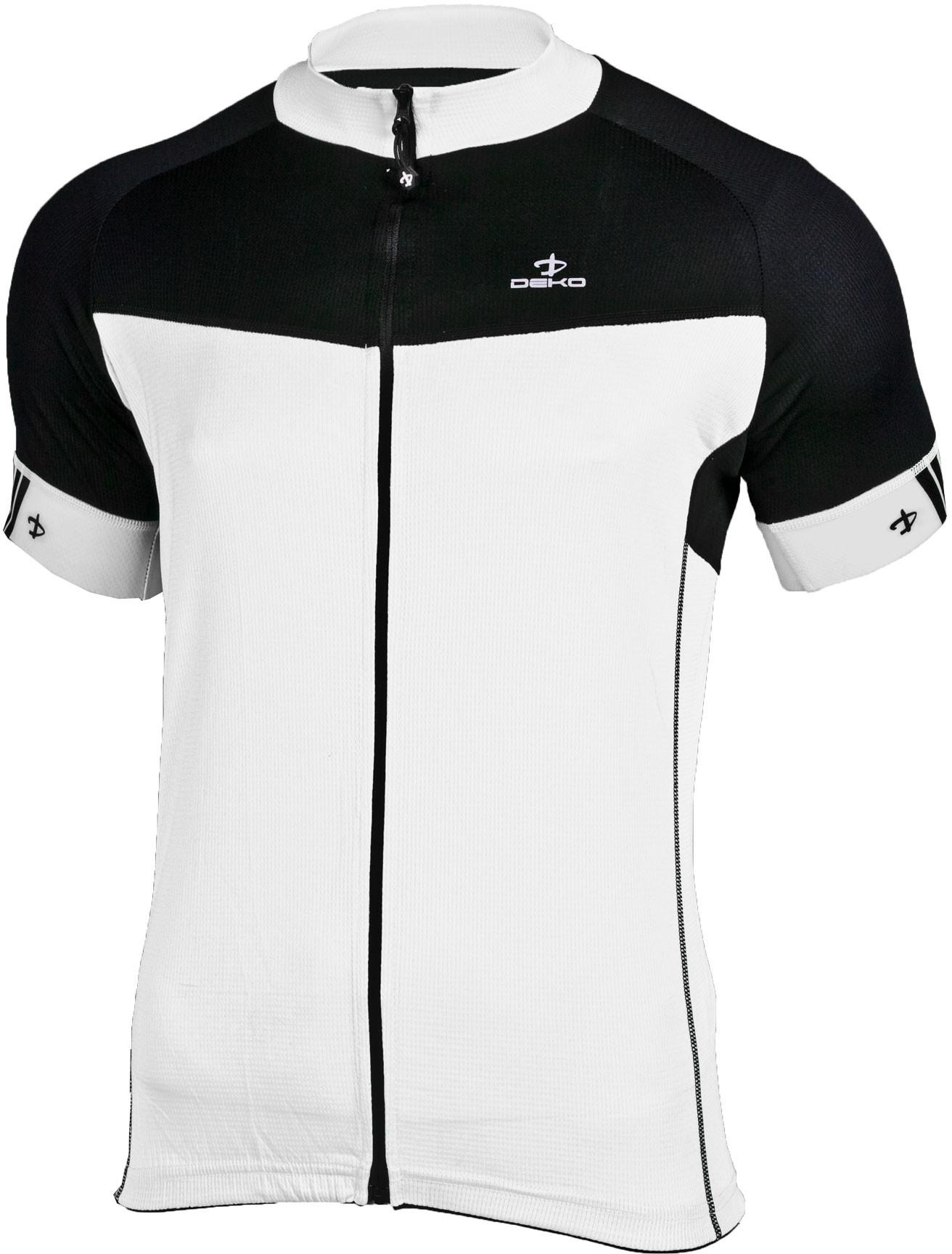 f4086f33f621e DEKO FORZA męska koszulka rowerowa biało-czarny