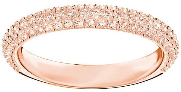 Swarovski Stone Mini Ring, Pink, Rose gold plating Pink Rose gold-plated