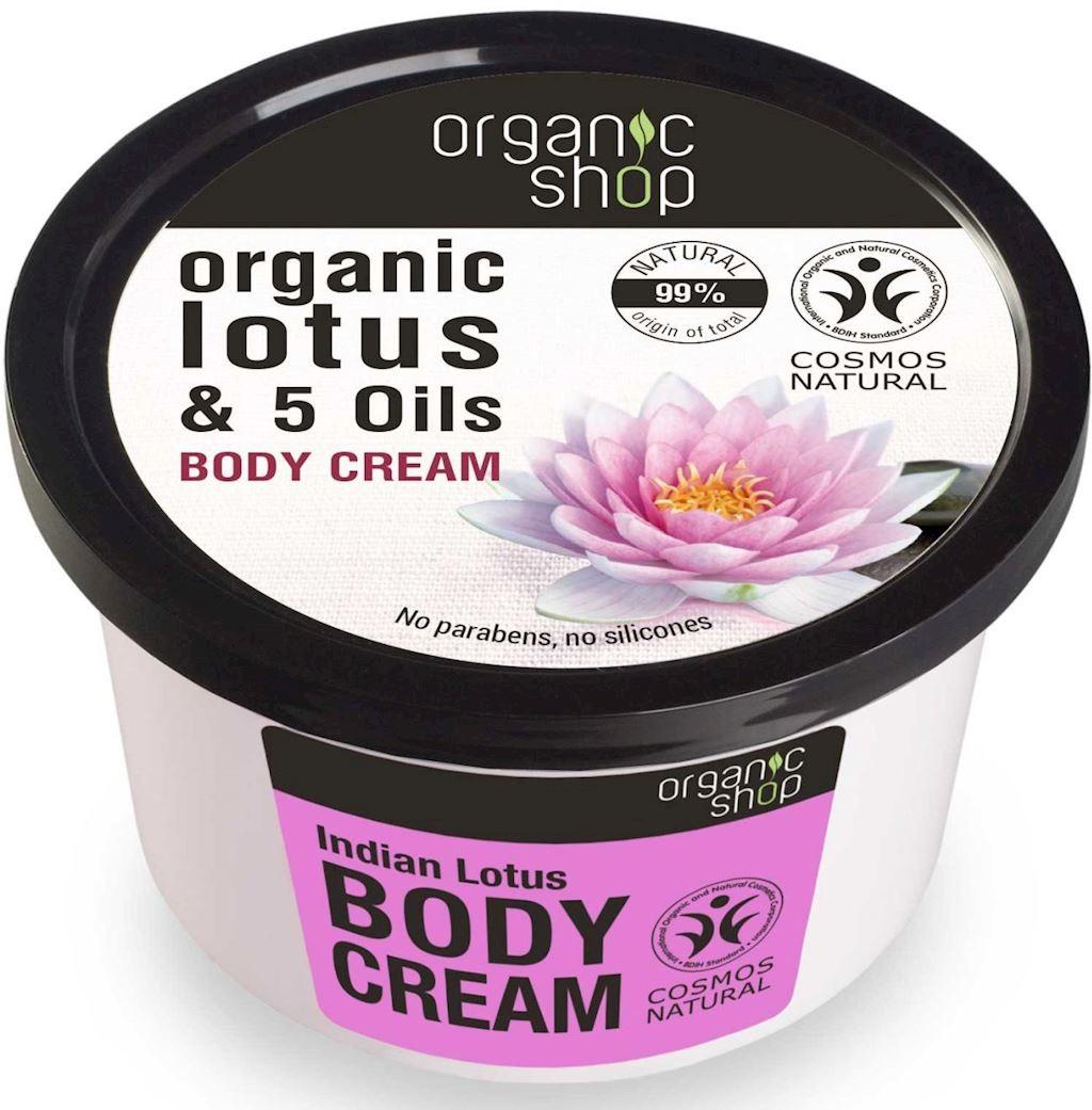 Organic Shop (kosmetyki) KREM DO CIAŁA INDYJSKI LOTOS ECO 250 ml -