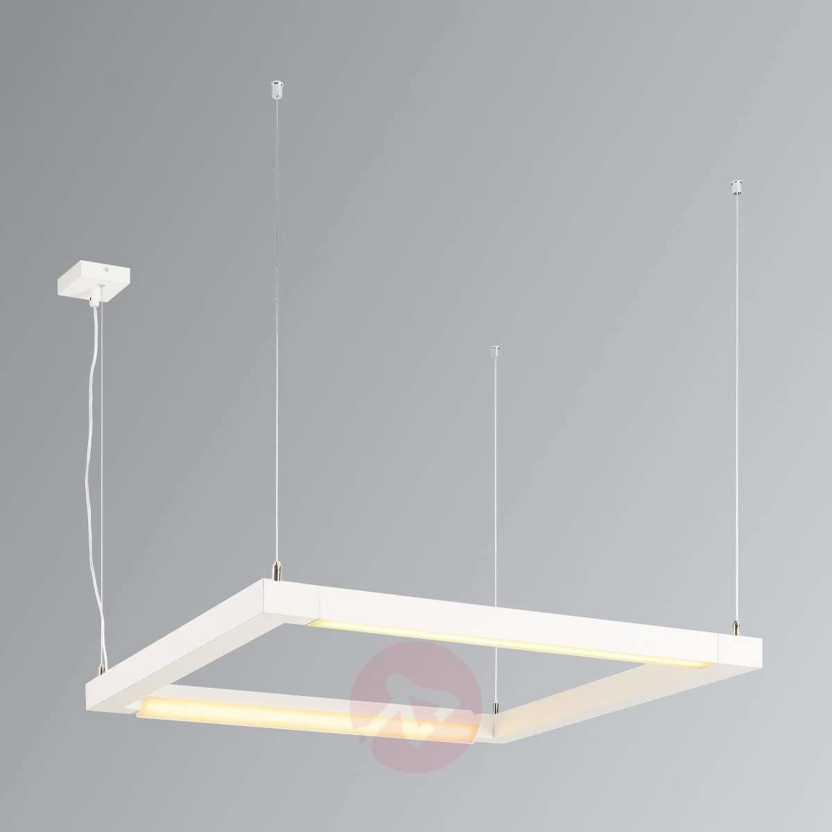 SLV OPEN GRILL LED podw obracana lampa wisząca square biała 157651