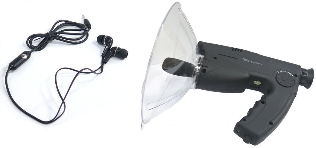 Solaraway Mikrofon Kierunkowy Zasięg Nasłuchu do 120 Metrów + Luneta + Zapis + Słuchawki 590783425417