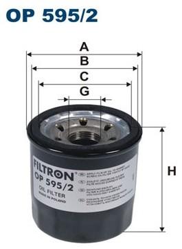 Filtron OP 595 FILTR OLEJU