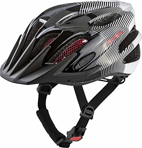 Alpina FB JR. 2.0 kask rowerowy dziecięcy - Black-White-Red, 50-55 cm (A9678136)