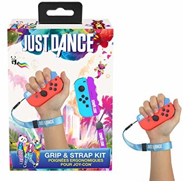 Nintendo Subsonic SA5506 Just Dance 2019 uchwyt i pasek ergonomiczne uchwyty z uchwytami do Switch JoyCon Controller Purple/niebieski (3701221700294)