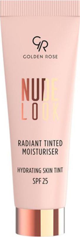 Golden Rose NUDE LOOK - Radiant Tinted Moisturiser - Koloryzujący krem do twarzy z efektem rozświetlenia - 02 - MEDIUM TINT GOLEWM32