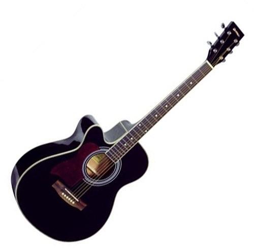 Dimavery 26231386 JK-303L Cutaway gitara czarna JK-303L Cutaway Guitar Black