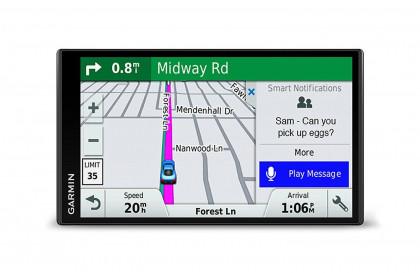 Garmin DriveSmart urządzenia nawigacyjnego ekran wyświetlacz, przez całe swoje życie aktualizacjami i informacji drogowych karty, Smart notifications, 15 cm (6), czarny 010-01681-13
