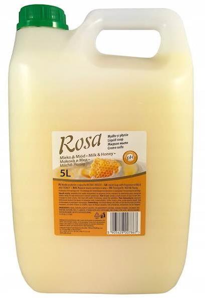 Polin Mydło w Płynie 5L ROSA Mleko i Miód