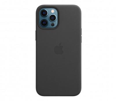 Apple Skórzane etui iPhone 12 Pro Max czarne