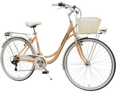 Indiana Rower miejski z koszykiem Belle 26 6B Pomarańczowy