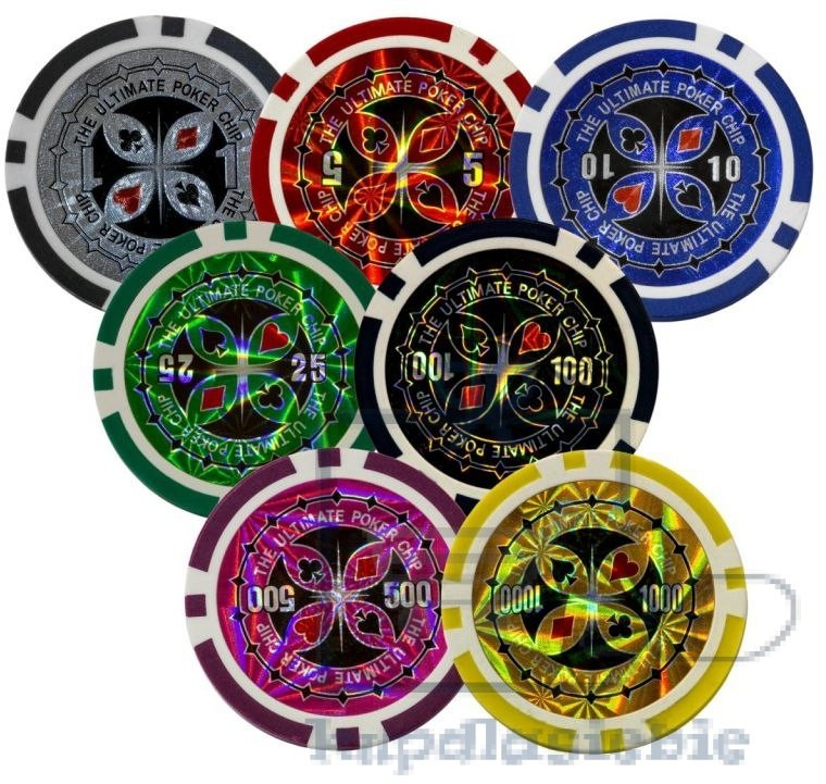 MAX Zestaw do pokera 300szt. żetonów 1 - 1000 design Ultimate