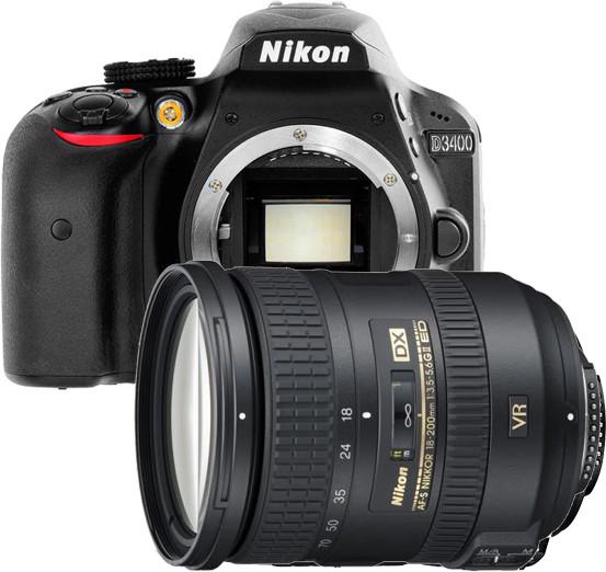 Opinie o Nikon D3400 + AF-S 18-200 VR II czarny