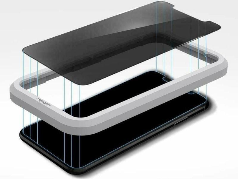 Spigen Szkło Align Master Privacy Glas.tR do Apple iPhone 11/XR AGL00103